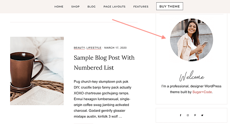 How To Make A Circle Photo In Your Blog Sidebar Bio