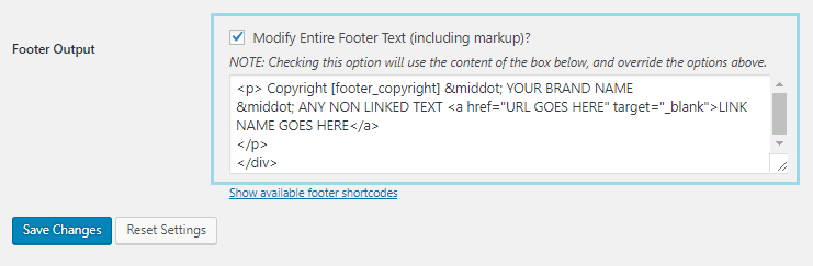 How to change Footer Copyright Credits On A Genesis Theme simple edits tutorial2