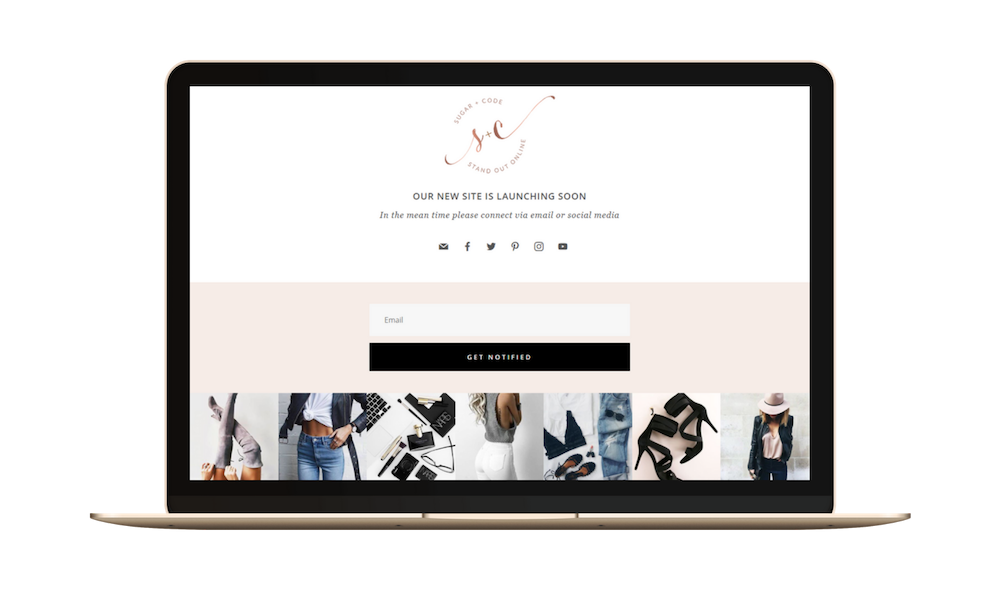 divi coming soon page template