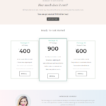 sales page divi template