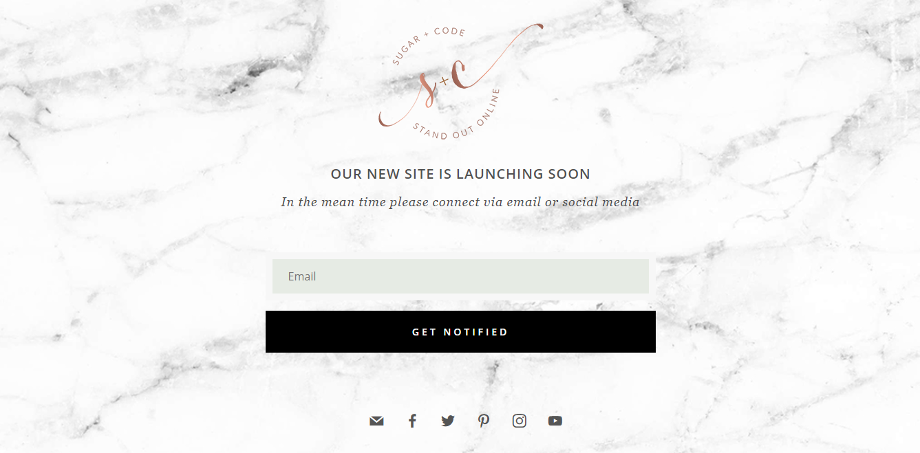 launching soon landing page template