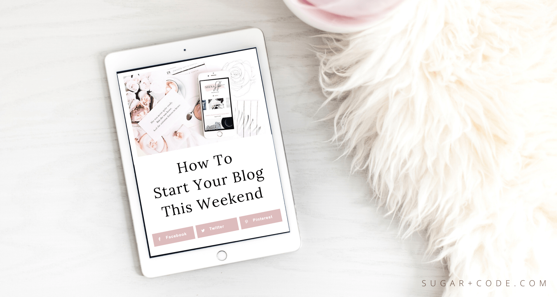 how to start a blog in a weekend