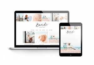Bondi feminine wordpress theme travel blog layout 2000c