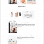 feminine blog layout bondi travel blogger theme