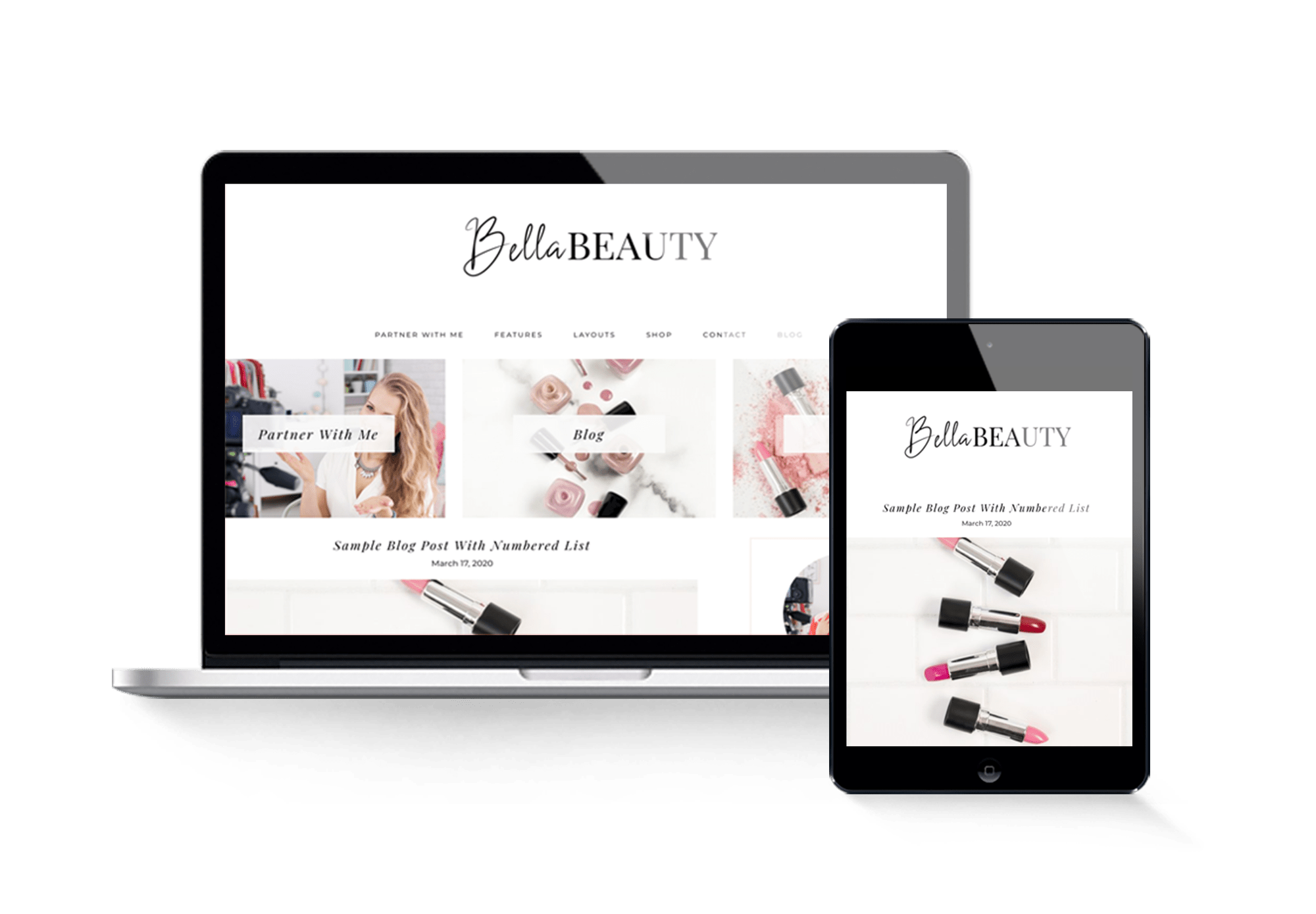 bella beauty feminine wordpress theme design