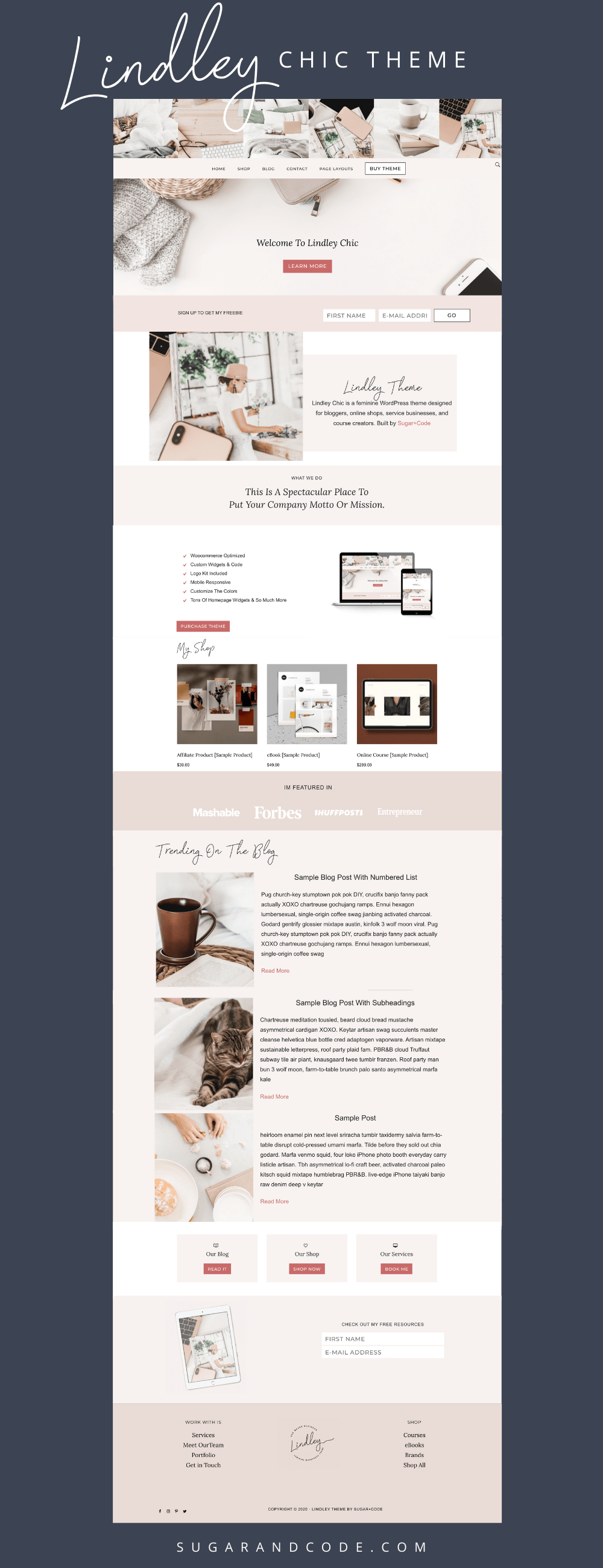 lindley chic feminine genesis child wordpress theme