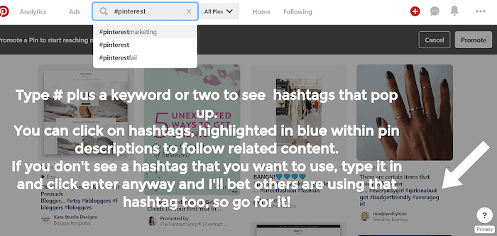 Free Pinterest planner 1 How To Use Hashtags On Pinterest To Increase Pin Exposure