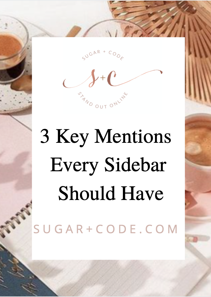 3 Key Mentions Every Sidebar Menu Should Have
